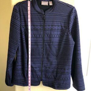 Chico's 1/M/8 Geometric Pattern Zip Up Jacket
